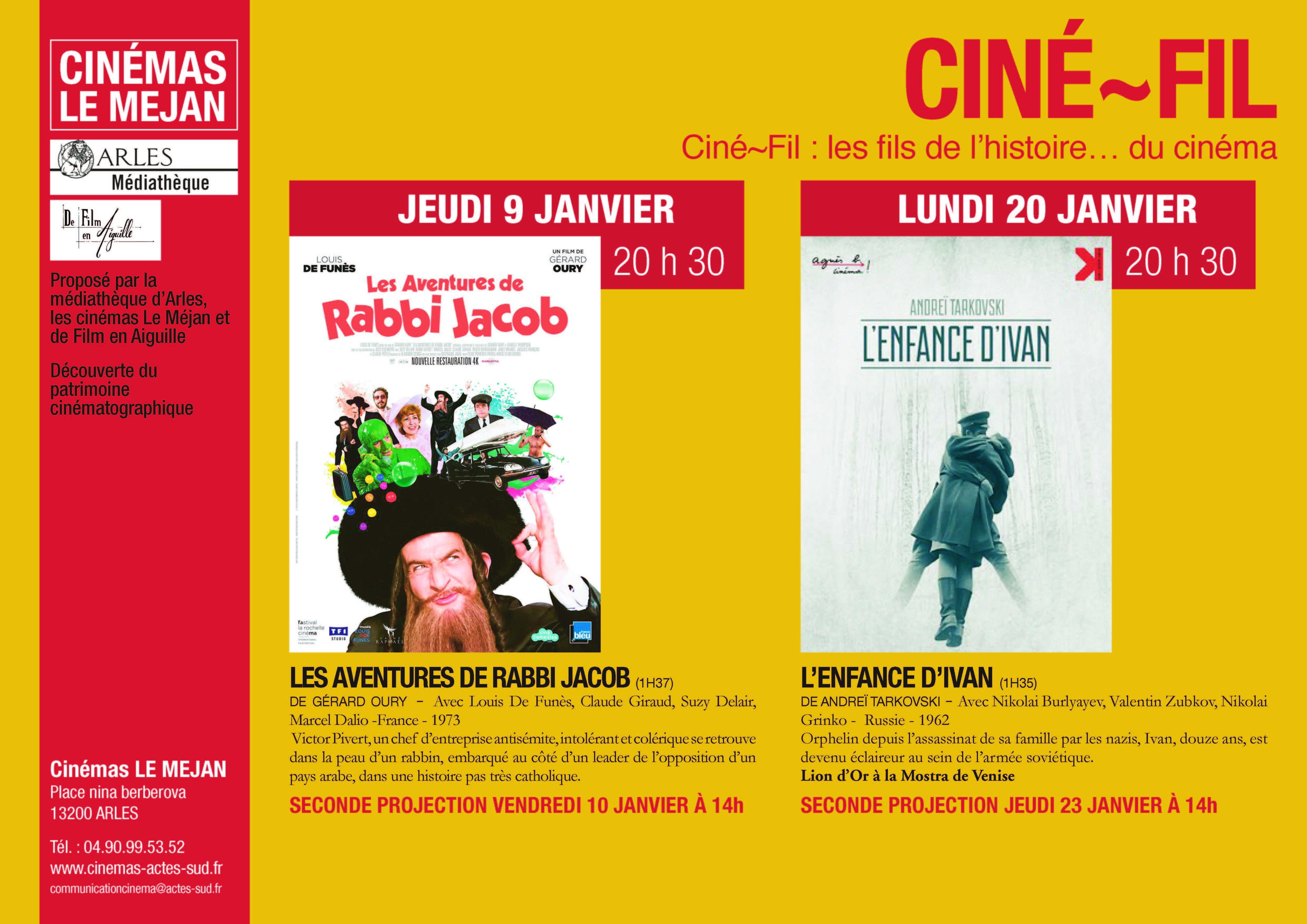 Cette séance est organisée dans le cadre de Ciné-Fil, en partenariat avec la médiathèque d'Arles et l'association De Film En Aiguille.