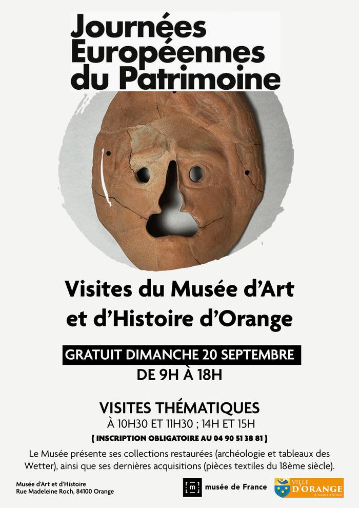 Journées du patrimoine 2020 - Visites / conférences sur les acquisitions et restaurations du musée d'art et d'histoire d'Orange