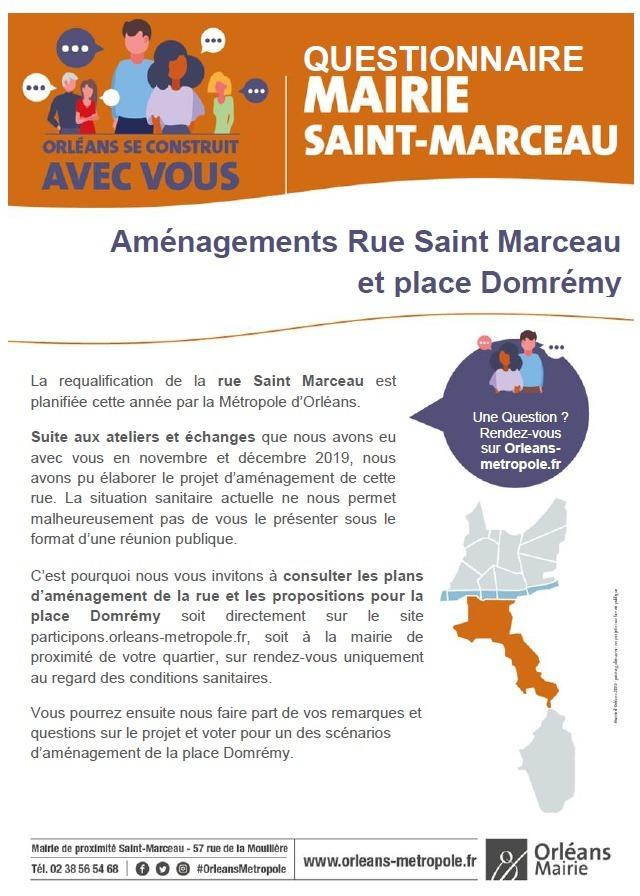 Aménagements Rue Saint Marceau et place Domrémy