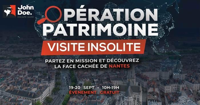 Journées du patrimoine 2020 - Visite insolite de Nantes