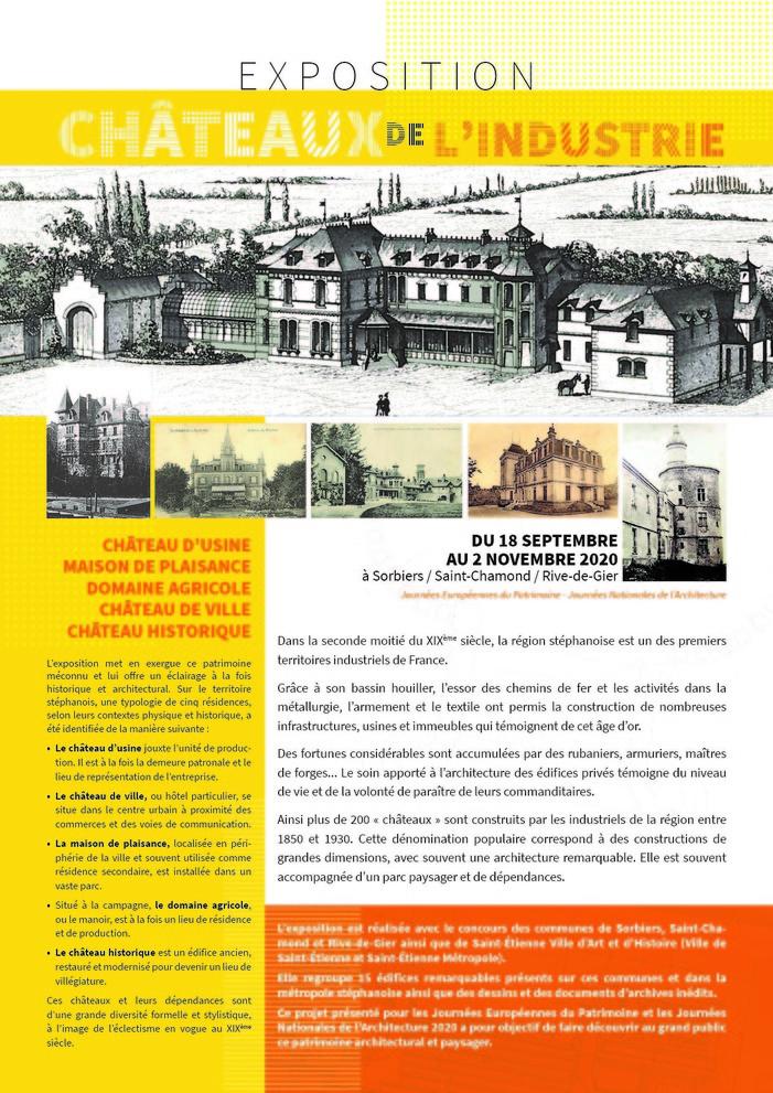 Journées du patrimoine 2020 - Châteaux de l'industrie
