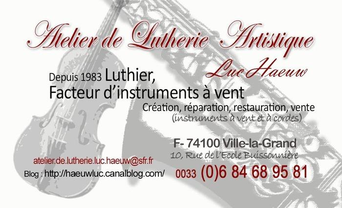 Journées du patrimoine 2020 - Découverte de la Lutherie.