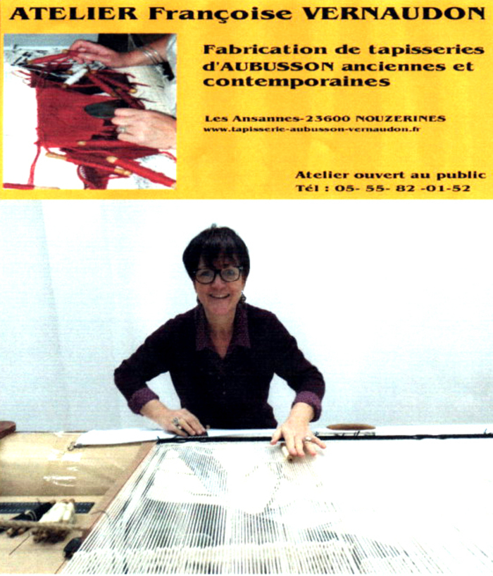 Journées du patrimoine 2020 - Visite d'un atelier de tapisserie d'Aubusson avec démonstration