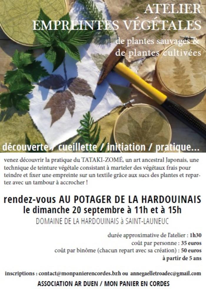 Journées du patrimoine 2020 - Atelier d'empreintes végétales