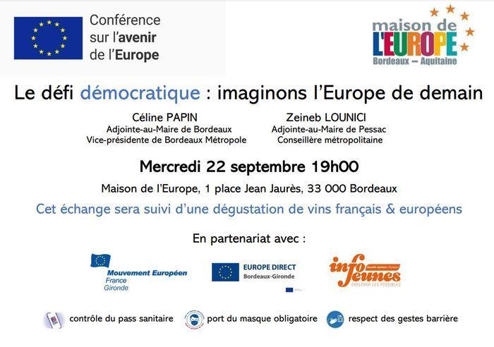 Débat - Le défi démocratique : imaginons l'Europe de demain