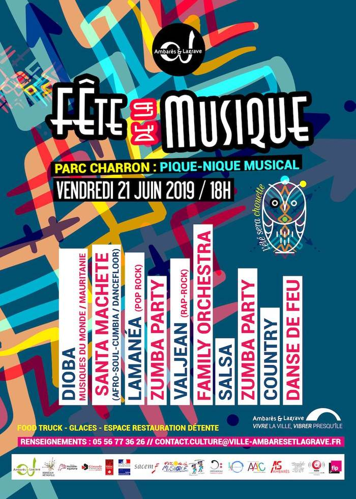 Fête de la musique 2019 - Santa Machete / Lamanea / Valjean / Dioba