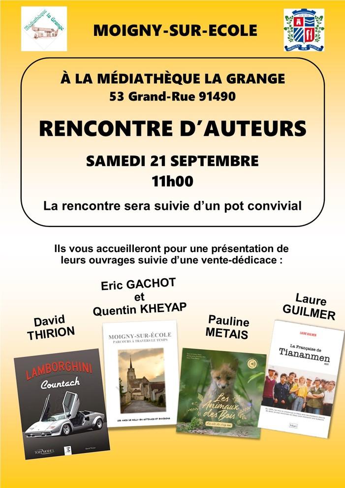 Journées du patrimoine 2019 - Rencontre d'auteurs