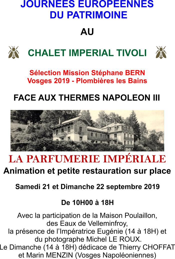 Journées du patrimoine 2019 - Chalet impérial Tivoli