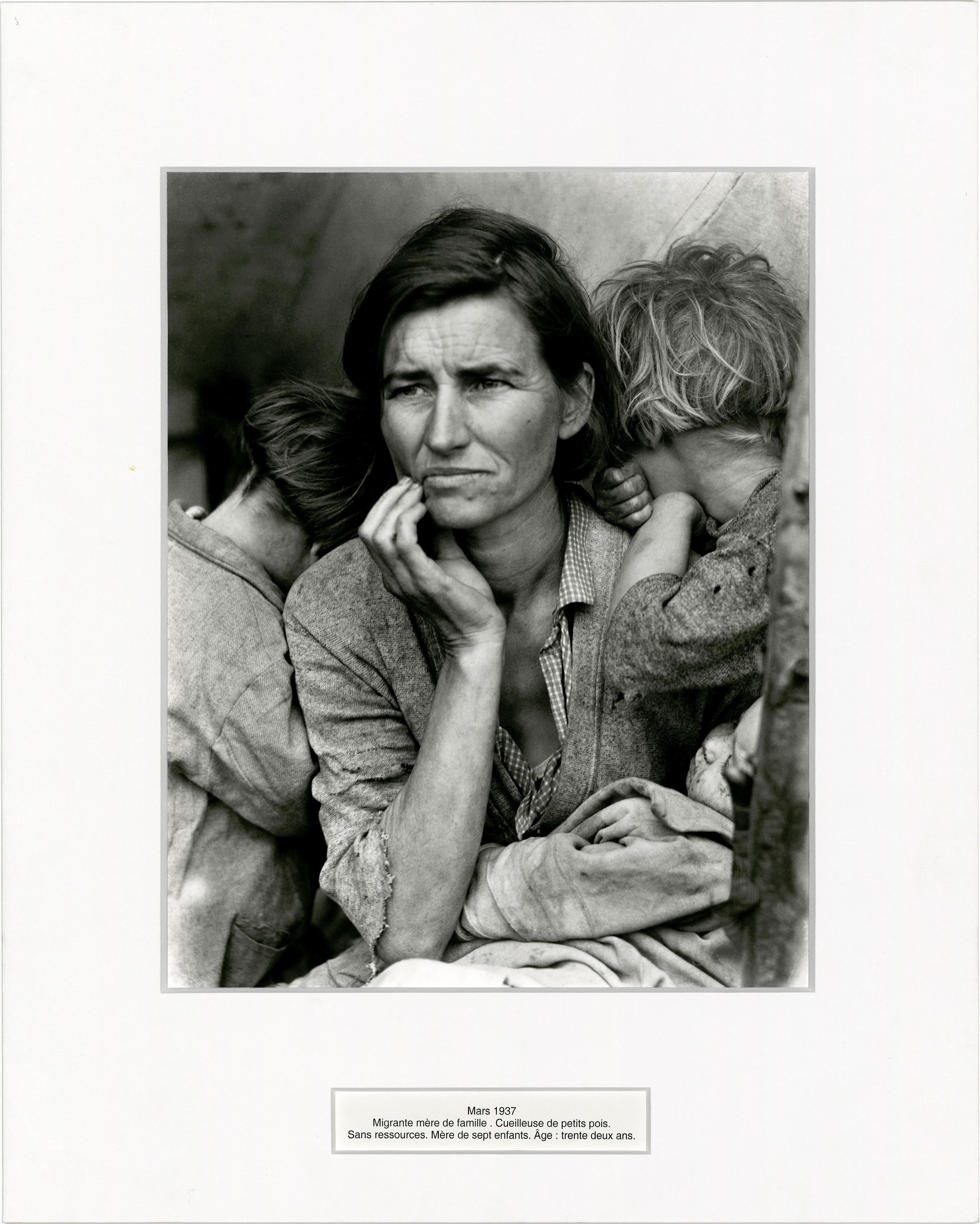 Présentation d'une première sélection d'images de Dorothea Lange suite au don de Sam Stourdzé au musée Réattu.