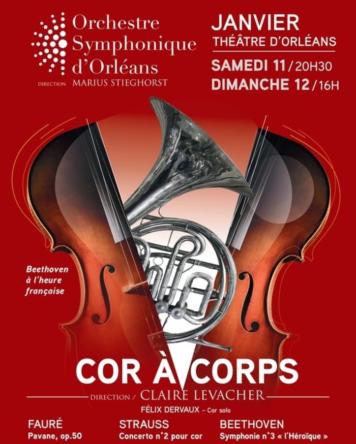 Un très beau programme placé sous la direction de Claire Levacher, réunissant  certaines  des  plus  belles  œuvres  du  répertoire  pour  cor et la fameuse Symphonie Héroïque de Beethoven !