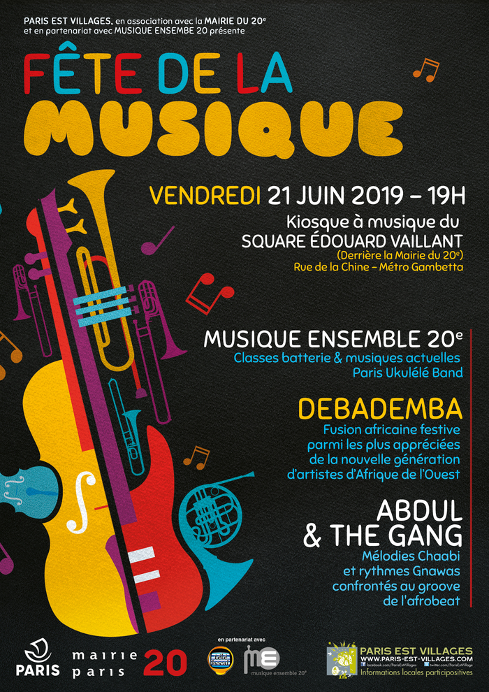 Fête de la musique 2019 - Mairie du 20e - Paris Est Villages