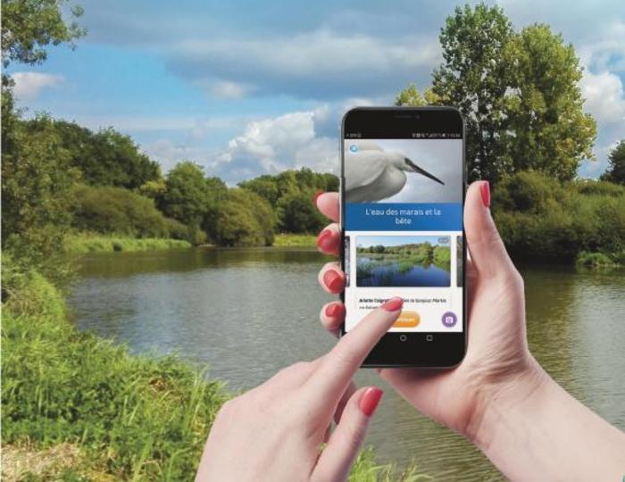 Journées du patrimoine 2020 - Le Conseil du marais enquête dans le marais de l'Île, parcours nature numérique, application Baludik