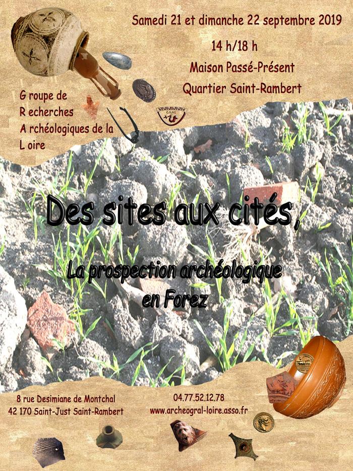 Journées du patrimoine 2019 - Des sites aux cités, la prospection archéologique en Forez