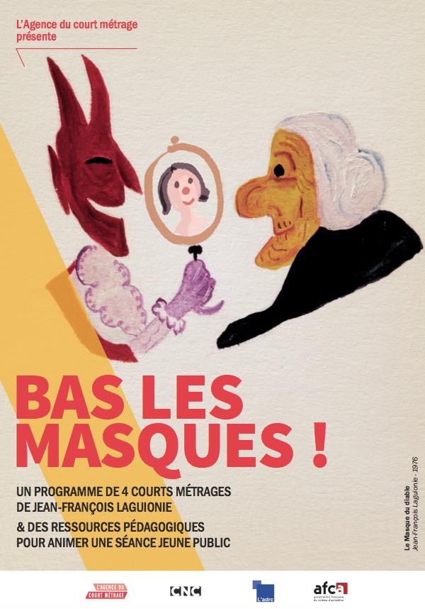 """Ce cinéphilo, animé par Stéphane Sellito, autour du programme de courts-métrages """" Bas les masques """" de J-F Laguionie, s'adresse aux enfants à partir de 7 ans."""