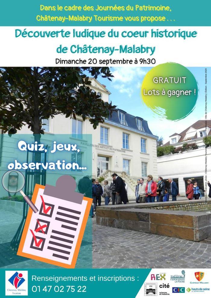 Journées du patrimoine 2020 - Découverte ludique du coeur historique de Châtenay-Malabry