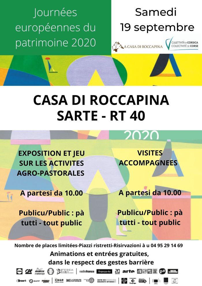 Journées du patrimoine 2020 - Annulé | VISITE ACCOMPAGNEE A CASA DI ROCCAPINA
