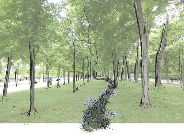 Gardens Of Crossbar Route Course In The Ephemeral Gardens