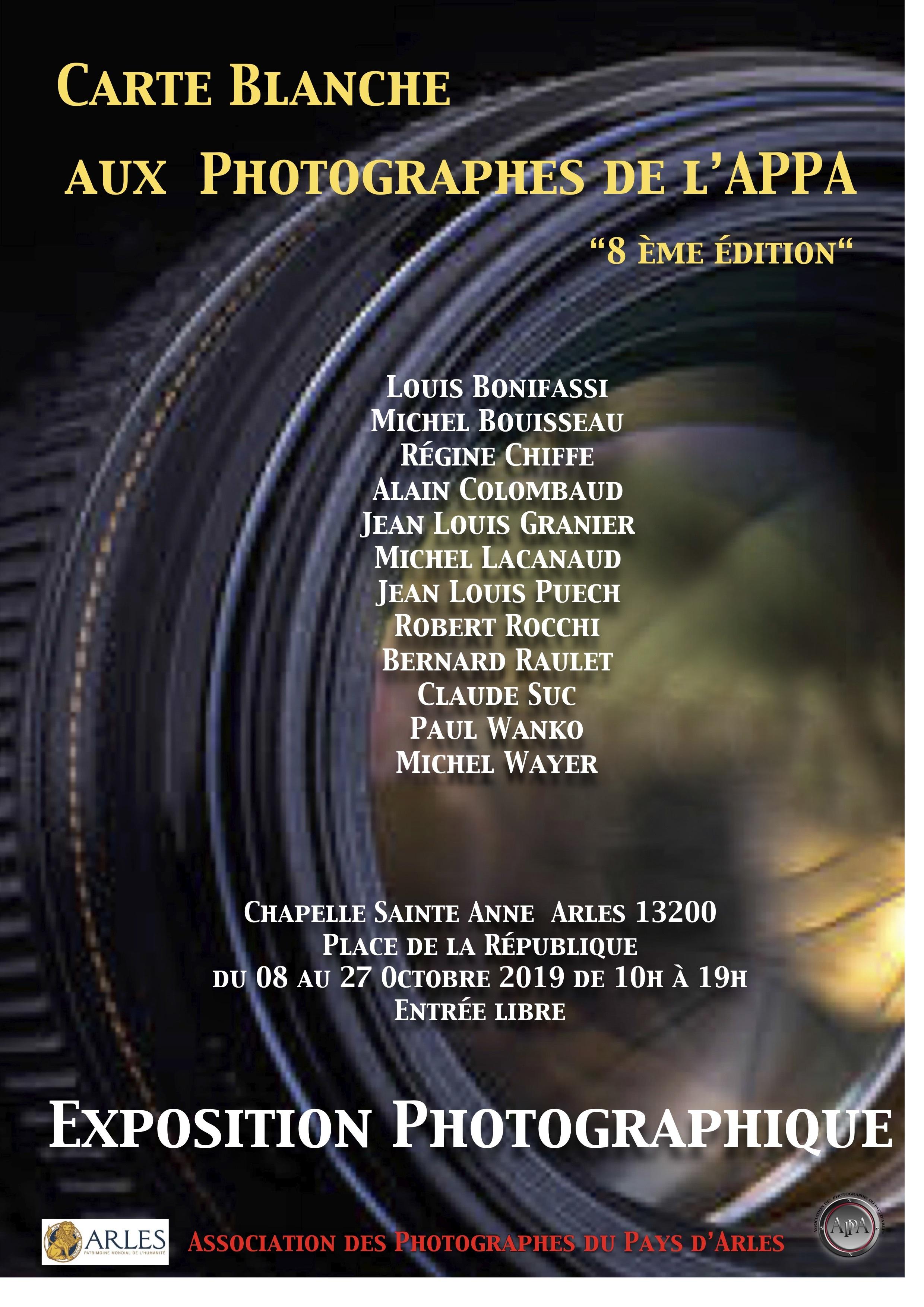 Présentation annuelle du travail des photographes du Collectif APPA