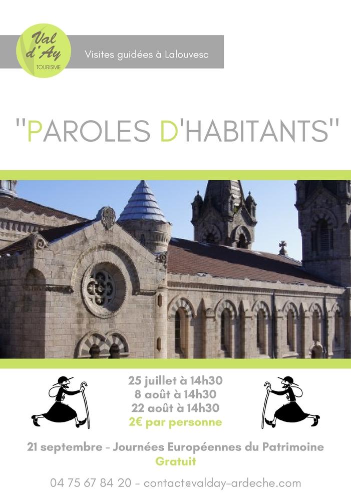 Journées du patrimoine 2019 - Visite paroles d'habitants : Lalouvesc, carrefour des arts