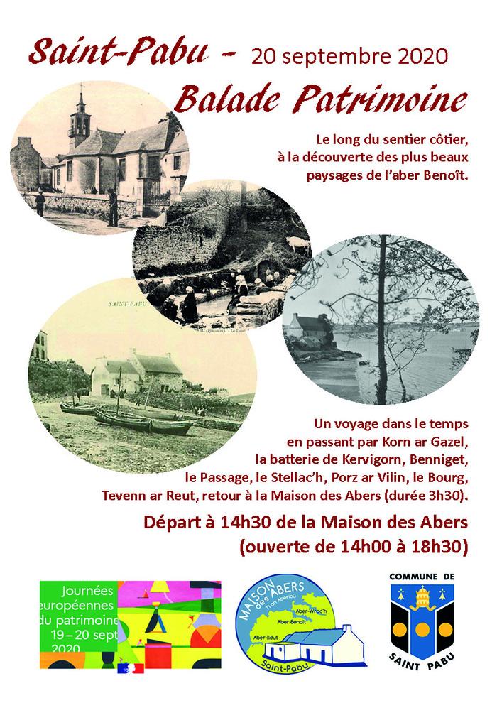 Journées du patrimoine 2020 - Balade patrimoniale à Saint-Pabu