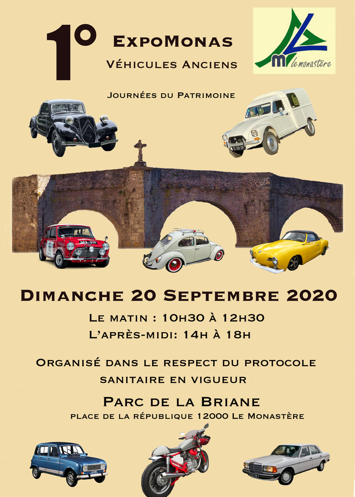Journées du patrimoine 2020 - Exposition de voitures anciennes