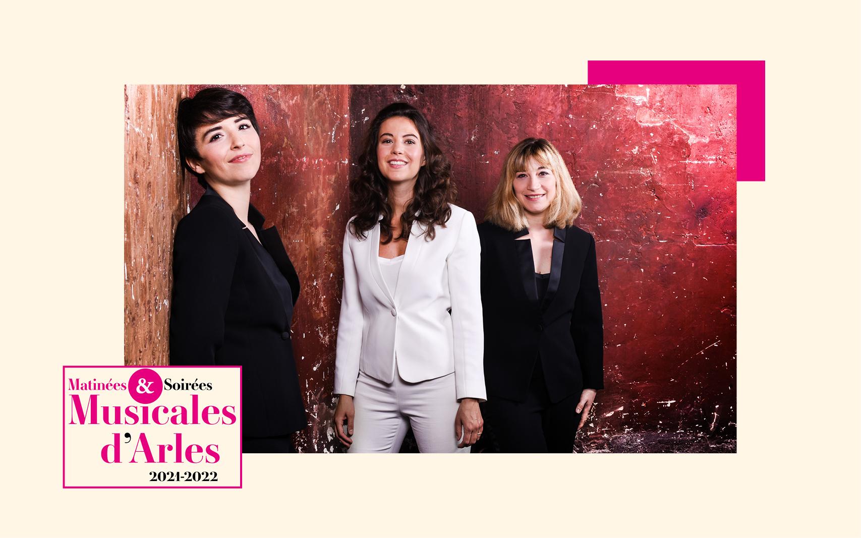 Trois pionnières des siècles passés face à trois compositrices contemporaines, dans l'interprétation du trio de femmes le plus engagé de sa génération : quel programme pour cette soirée 100% féminine!