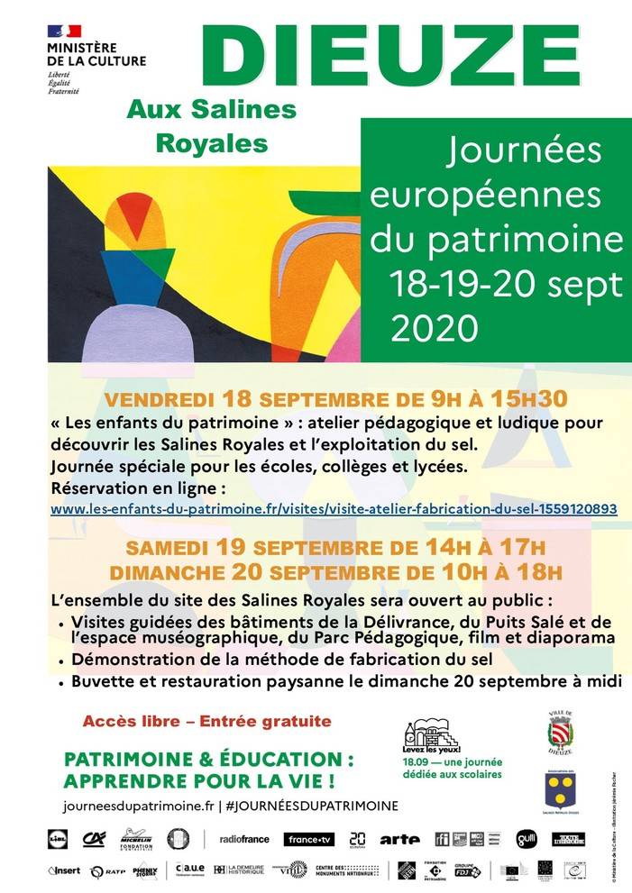 Journées du patrimoine 2020 - Découverte des Salines Royales de Dieuze