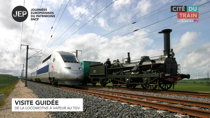 Journées du patrimoine 2020 - Visite guidée :  Découverte de la locomotive à vapeur au TGV