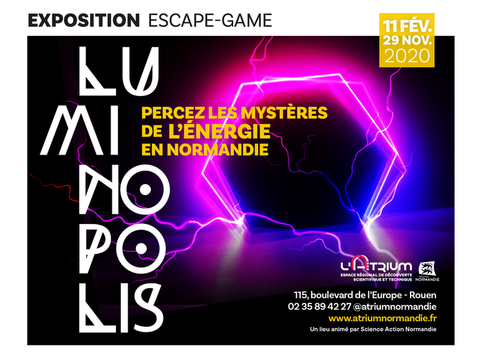 Journées du patrimoine 2020 - Exposition Luminopolis, percez les mystères de l'énergie en Normandie