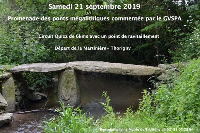 Journées du patrimoine 2019 - Randonnée des ponts mégalithiques