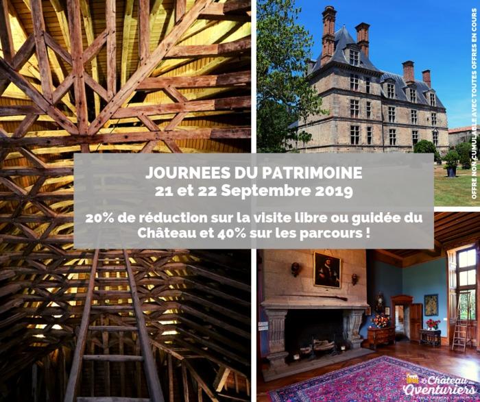 Journées du patrimoine 2019 - Visite du Château de la Guignardière
