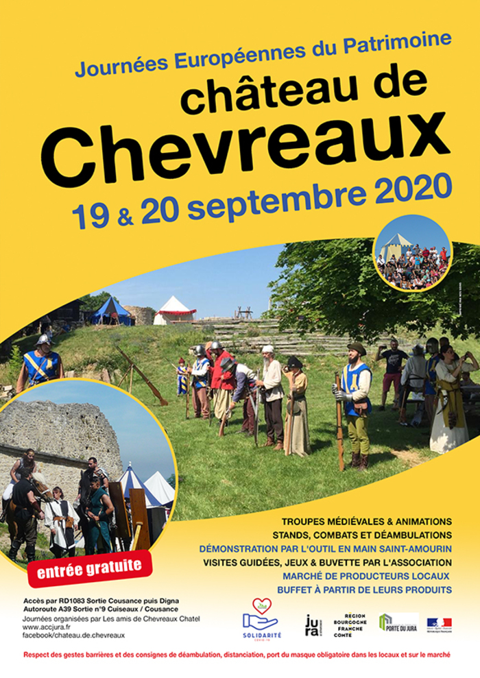 Journées du patrimoine 2020 - Venez au château de Chevreaux !