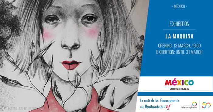 Exposition de 25 reproductions de gravures réalisées par des artistes mexicains, inspirés par les anciennes techniques de gravures parisiennes