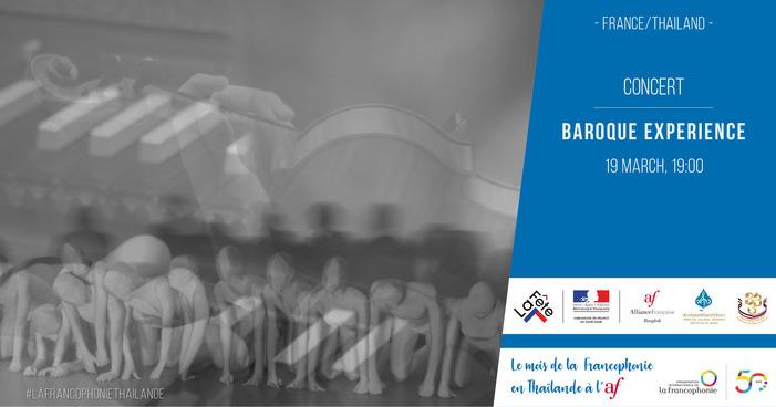 « Expérience Baroque » chorégraphié par Jitti Chompee sous la direction musicale de Michaël Cousteau, avec les étudiants de Princess Galyani Vadhana Institute of Music