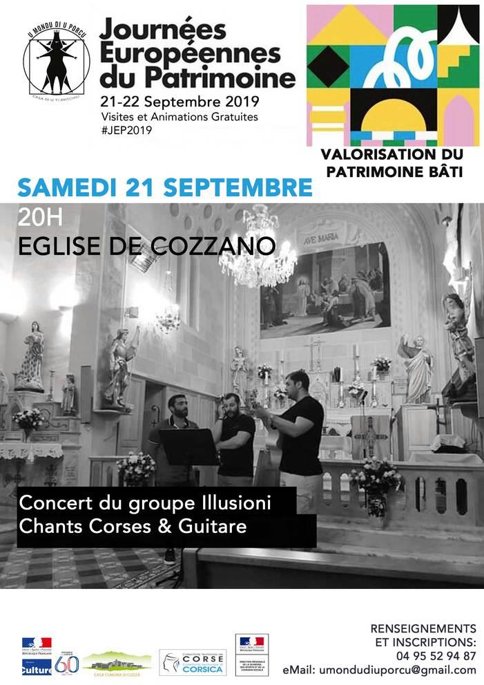 Journées du patrimoine 2019 - Concert à l'église de Cozzano