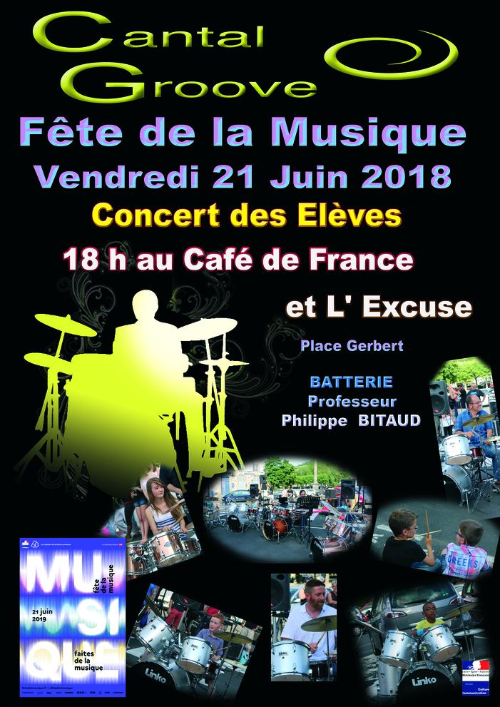 Fête de la musique 2019 - Elèves de l'Ecole de Batterie Philippe BITAUD