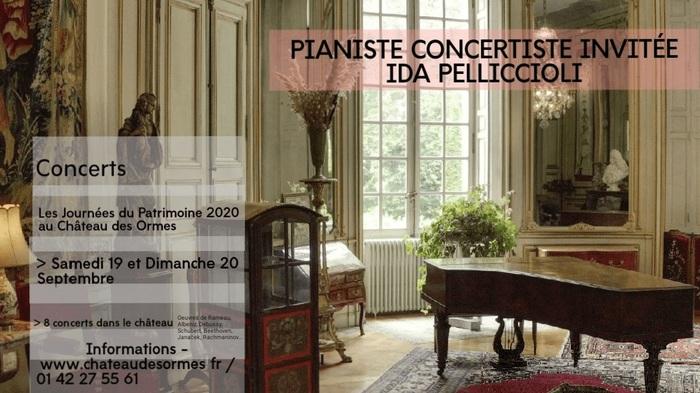 Journées du patrimoine 2020 - Concert de la pianiste Ida Pelliccioli