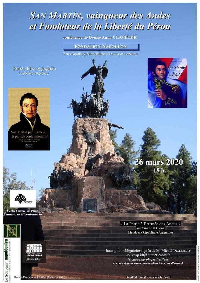 San Martín, vainqueur des Andes et Fondateur de la Liberté du Pérou