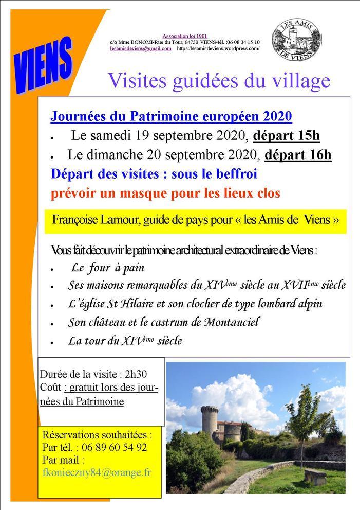 Journées du patrimoine 2020 - Visite guidée du village de Viens et de son patrimoine historique