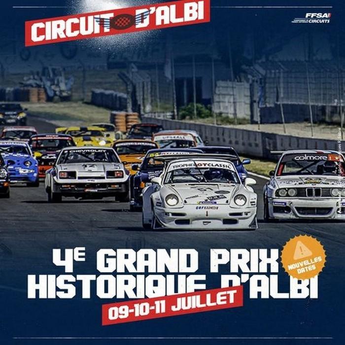 Le Grand Prix Historique d'Albi est reporté au 9 10 11 juillet 2021. L'Historic Tour d'Albi sera la première manche du Championnat de France Historique des circuits