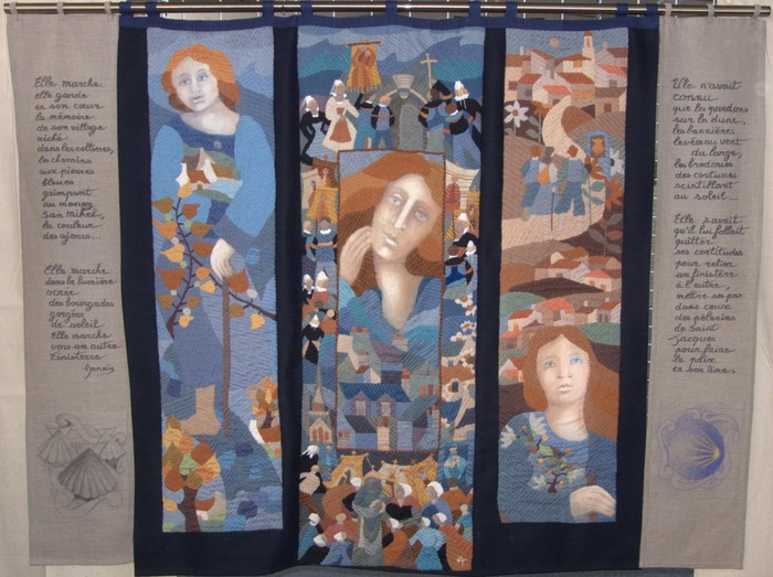 Journées du patrimoine 2020 - Expositions de tapisseries brodées / Créations d'Annaïg Le Berre