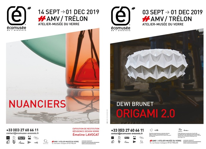 Journées du patrimoine 2019 - origami 2.0 de Dewi BRUNET et NUANCIER de Emeline LAVOCAT