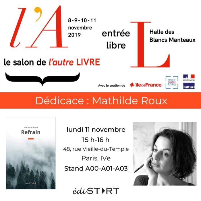Dédicace de Mathilde Roux au salon de l'Autre Livre, le salon des éditeurs indépendants