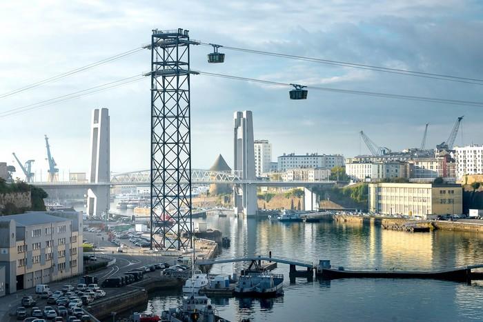 Le téléphérique de Brest, une alternative écologique