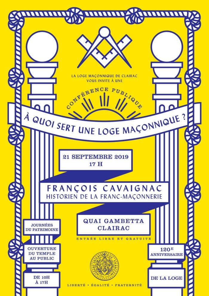 Journées du patrimoine 2019 - Découverte du temple maçonnique de Clairac