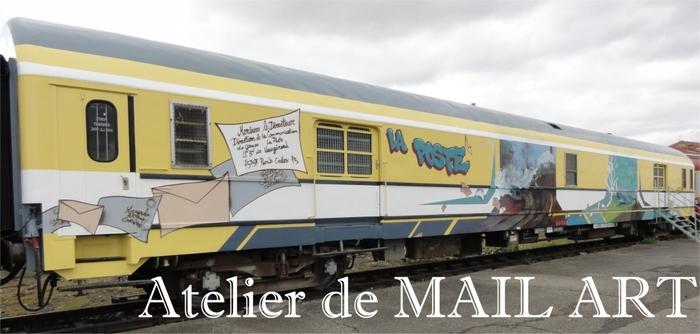 Journées du patrimoine 2019 - Atelier de mail art dans un wagon postal historique