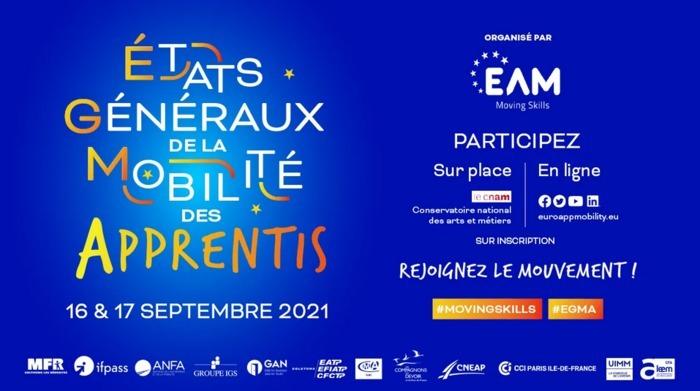 L'association Euro App Mobility organise les Etats généraux de la mobilité des apprentis les 16 et 17 septembre 2021 à Paris en présence de nombreuses personnalités et acteurs de terrain.
