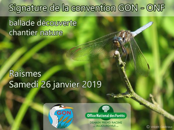 Signature de la convention GON - ONF