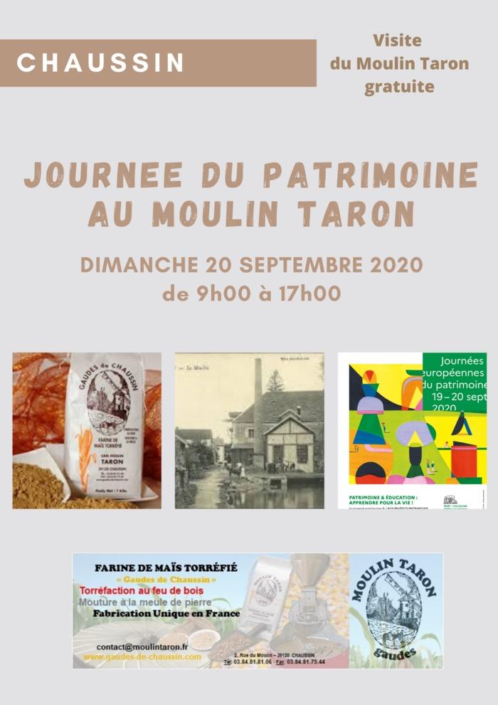 Journées du patrimoine 2020 - Visite du Moulin Taron