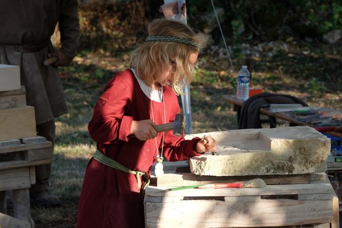 Journées du patrimoine 2020 - Atelier de taille de pierre à la chapelle de Libdeau